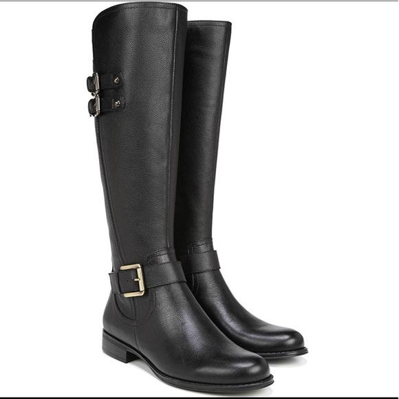 New Naturalizer Black JESSIE WIDE CALF Boots